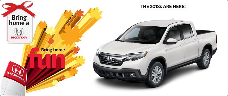 2018 Ridgeline from $118 Weekly