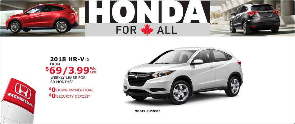 HR-V from $69 Weekly
