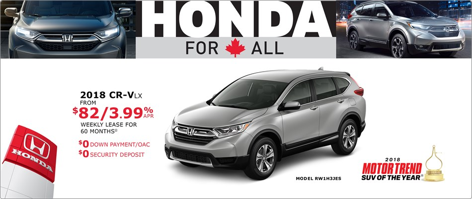 CR-V from $82 Weekly