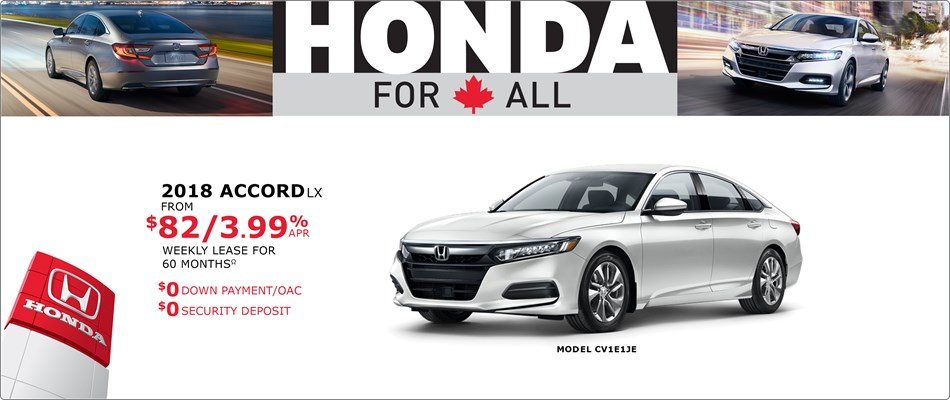 Accord from $82 a week