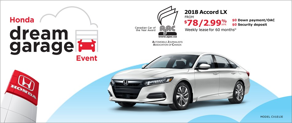 2018 Accord from $78 Weekly