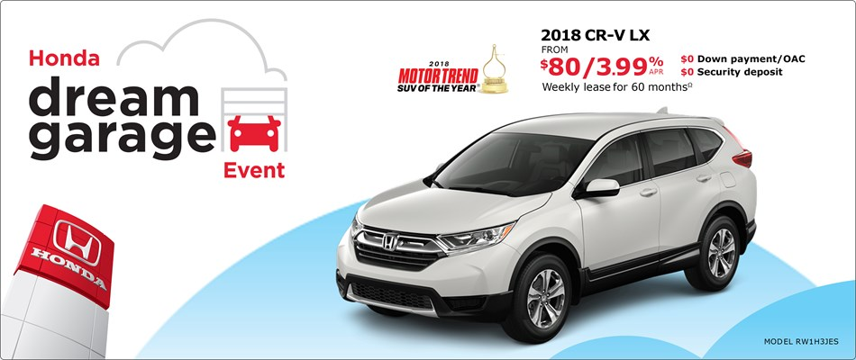 2018 CR-V from $80 Weekly