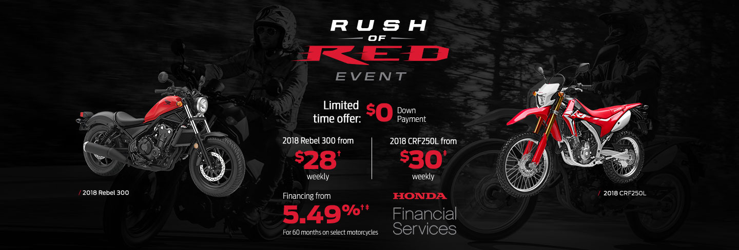 Rush of Red Event : Motorcycles