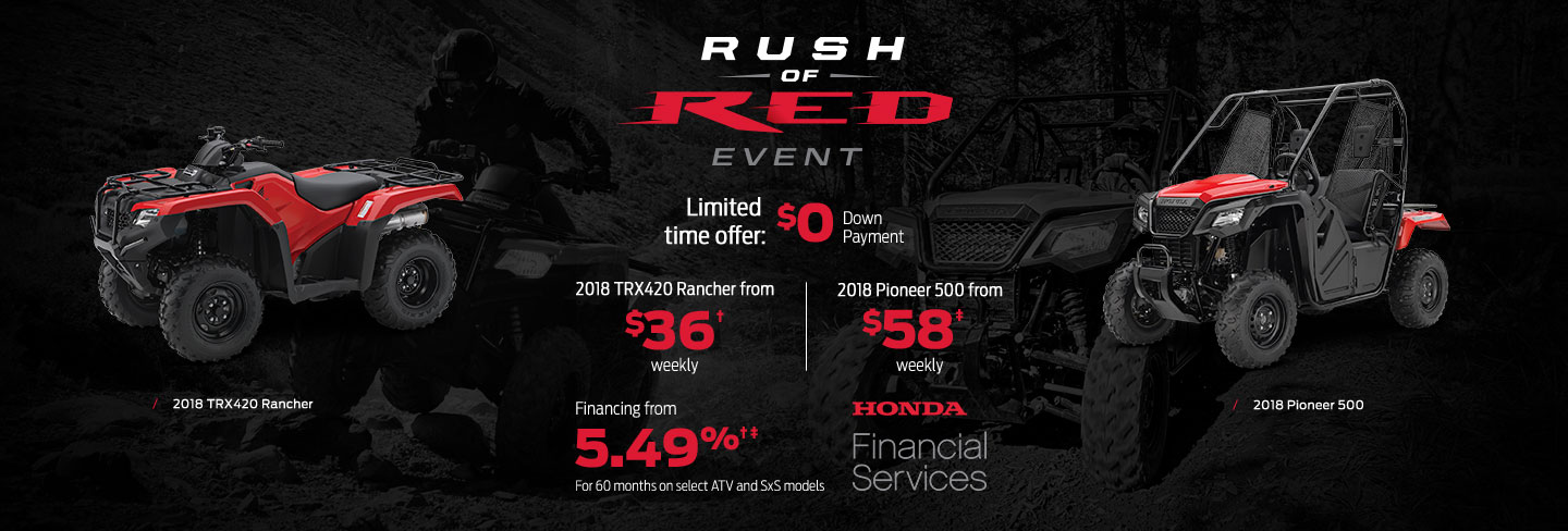 Rush of Red Event : ATV and SxS