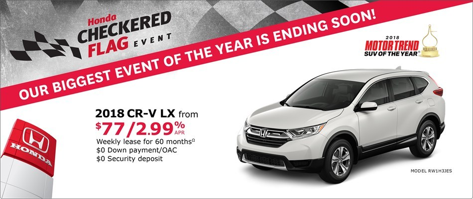 2018 CR-V from $77 Weekly