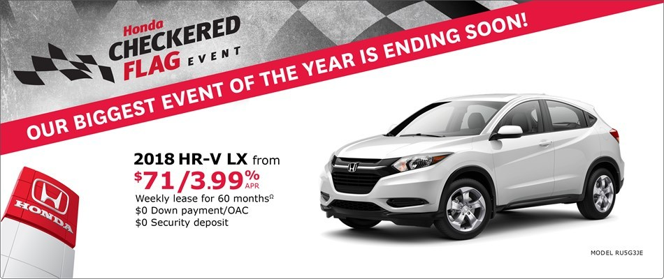 2018 HR-V from $71 Weekly
