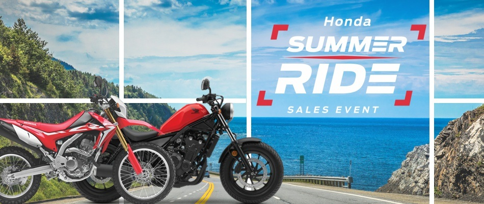 Summer Ride Sales Event: Motorcycles
