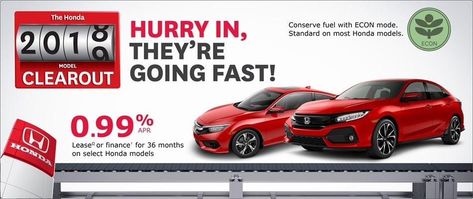 0.99% on Select Hondas at Kanata Honda