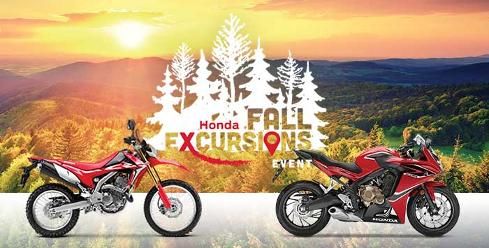 Fall Excursions Sales Event: Motorcycles