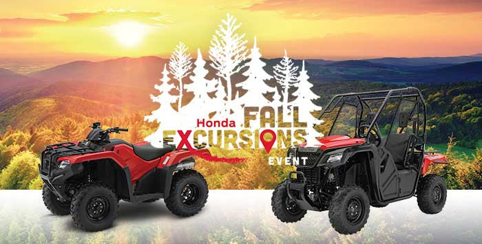 Fall Excursions Sales Event: ATV and SxS