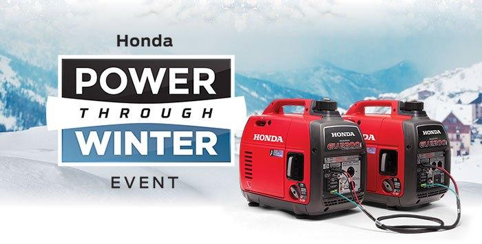 Power Thru Winter Event: Generators