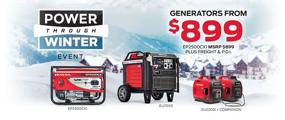 Save on generators at Kanata Honda