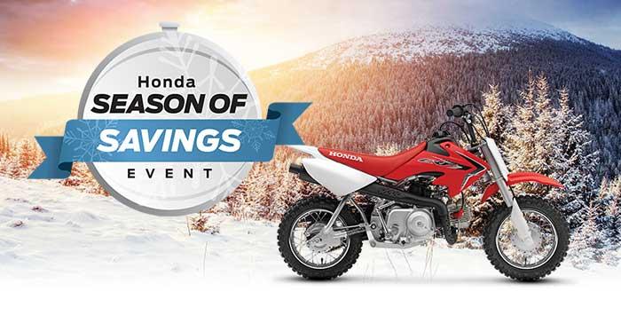 Honda Season of Savings Event: Motorcycle