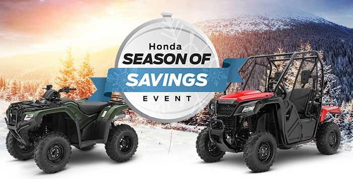 Season of Savings Sales Event: ATV and SxS