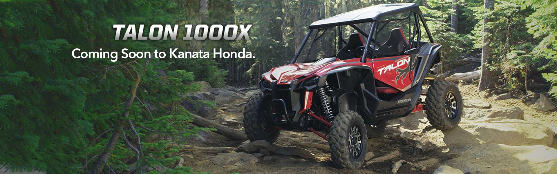 New Talon 1000X coming soon to Kanata Honda