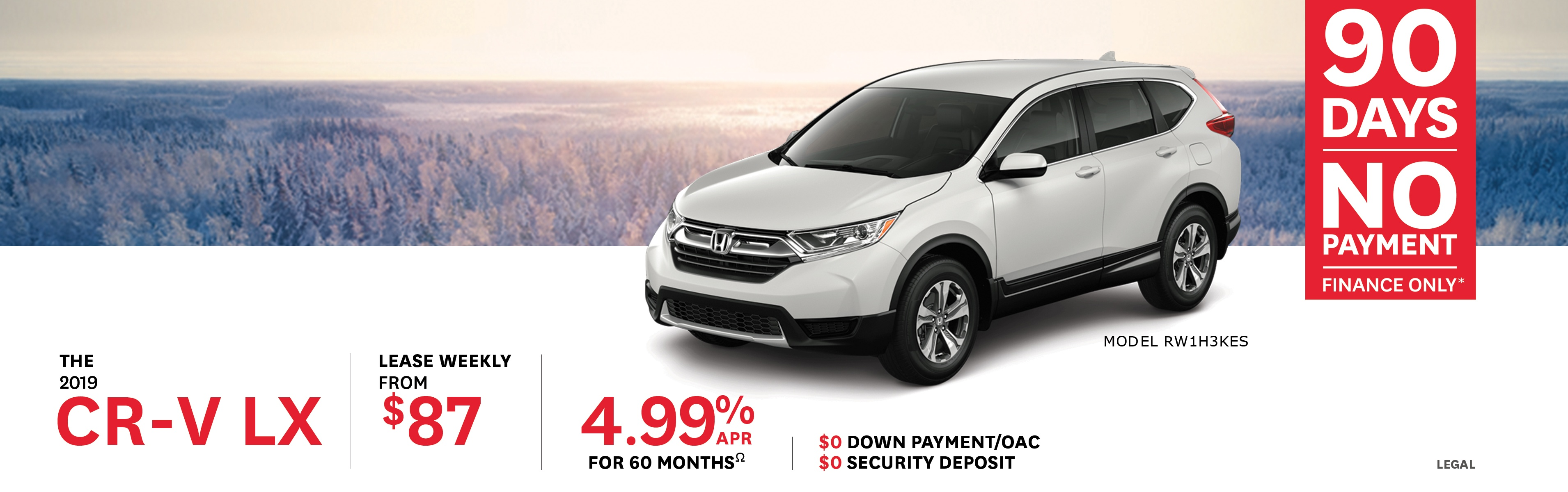 2019 CR-V from $87 Weekly
