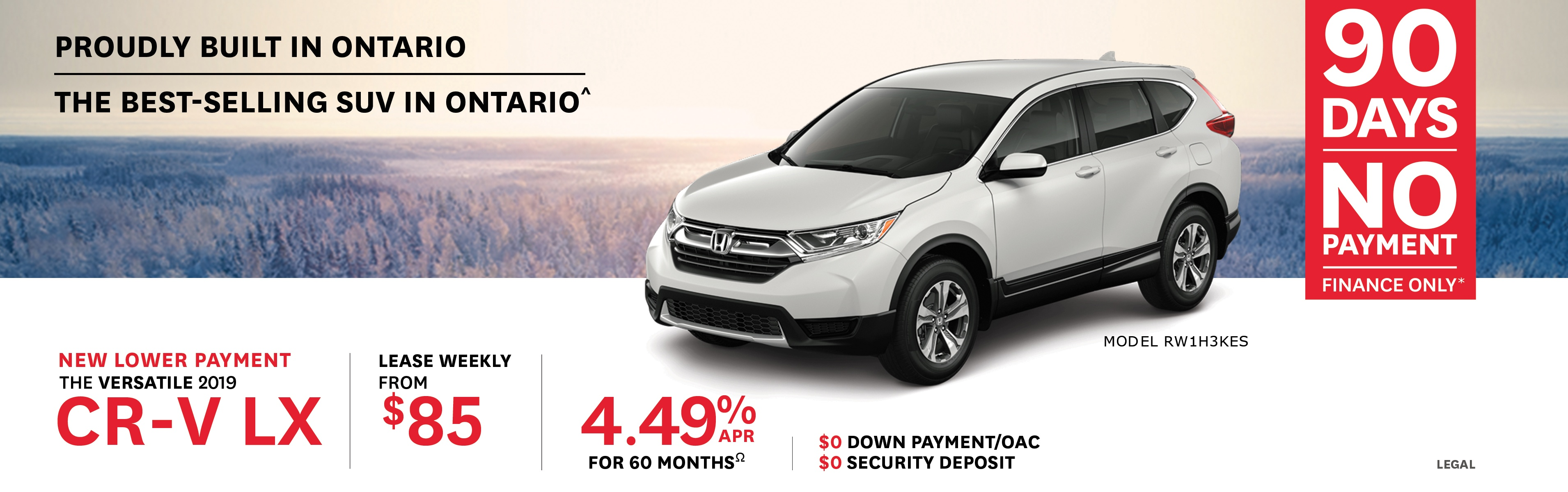 2019 CR-V from $85 Weekly
