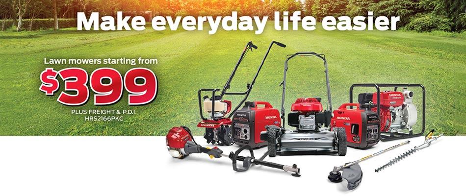 Save on Honda Lawn Care Products at Kanata Honda