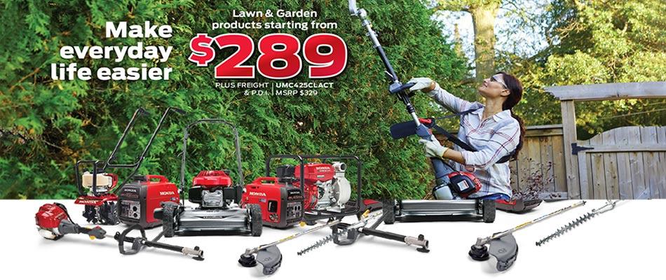 Save on everything lawn and garden at Kanata Honda