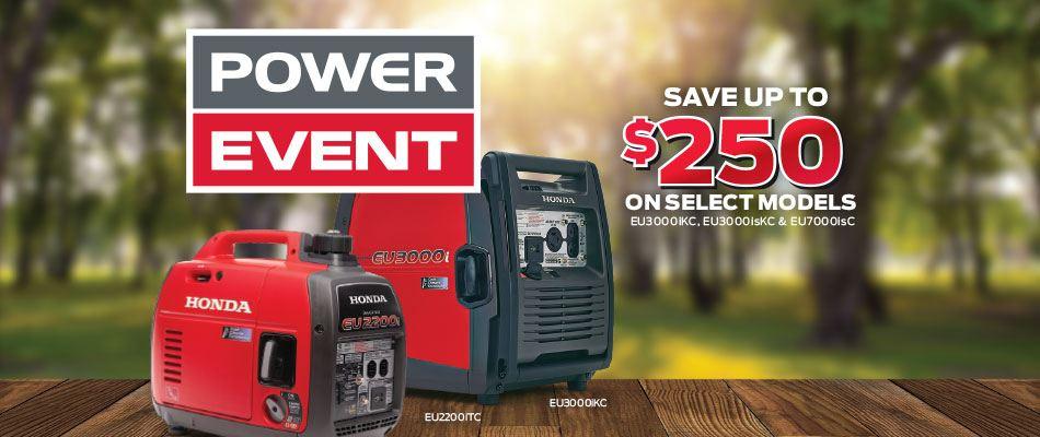 Save on generators at Kanata Honda