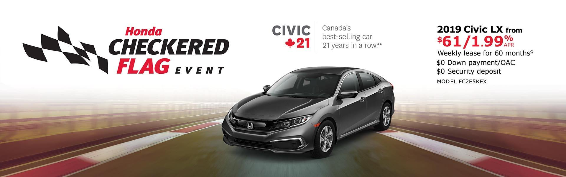 2019 Civic LX from $61 Weekly