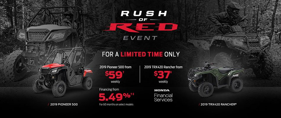 Save on ATVs and Side-by-sides at Dow Honda.