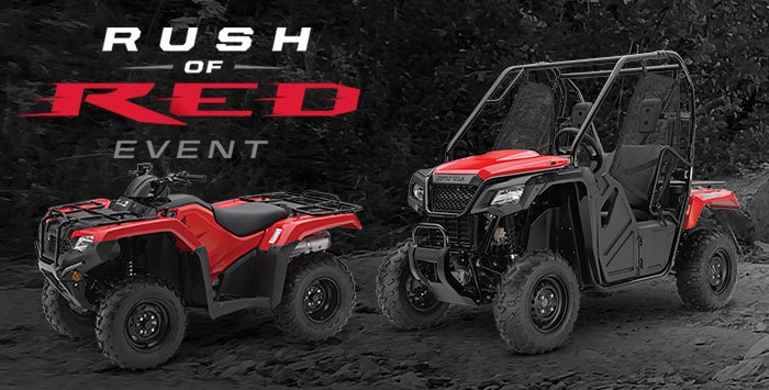 Rush of Red Event: ATV and SxS