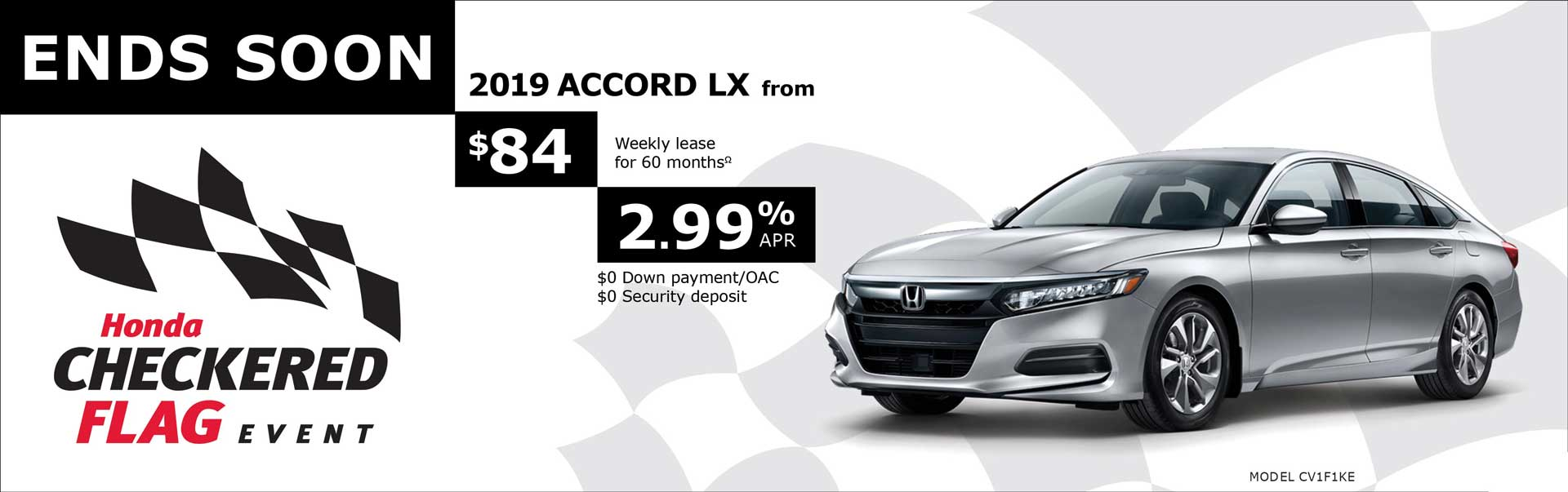 2019 Accord from $84 Weekly