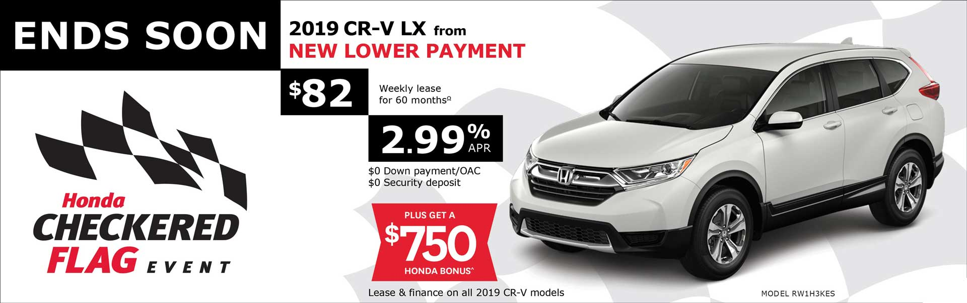 2019 CR-V from $82 Weekly