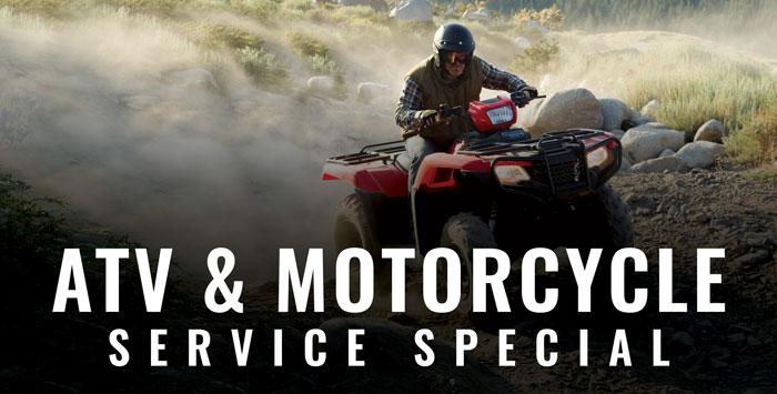 ATV & Motorcycle Service Special