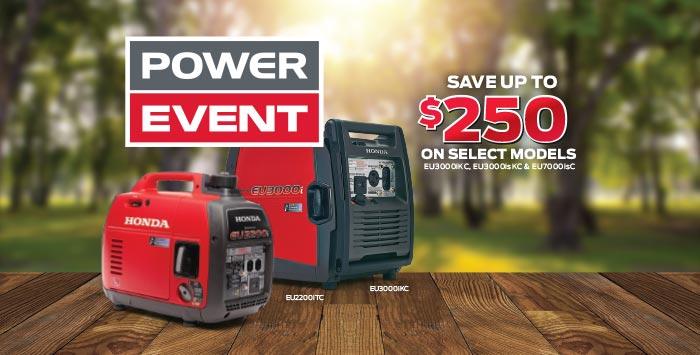 Power Event: Generators