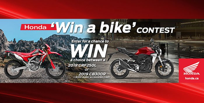 Win A Honda Bike Contest