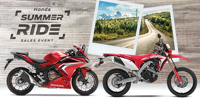 Summer Ride Sales Event: Motorcycle