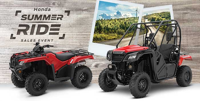 Summer Ride Sales Event: ATV and SxS