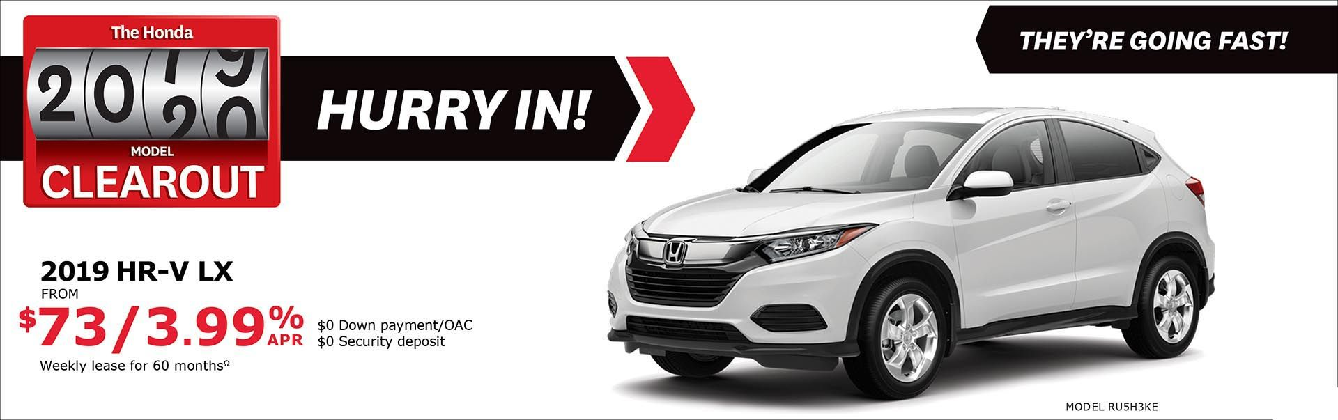 Save on HR-V at Kanata Honda
