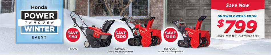 Save on Snowblowers at Kanata Honda