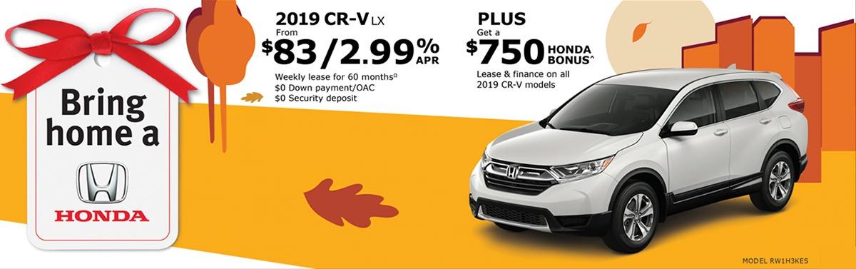 2019 CR-V with $750 Bonus