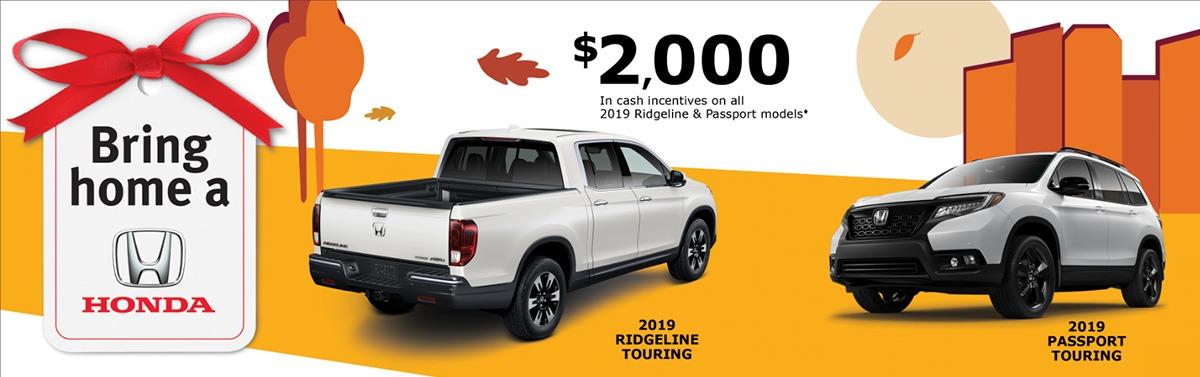 Save on Ridgeline and Passport at Kanata Honda