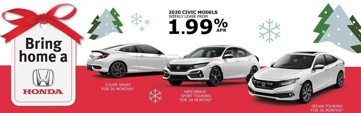 Save on 2020 Civic at Kanata Honda