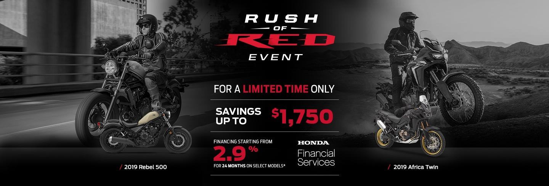 Rush of Red Honda Event at Kanata Honda