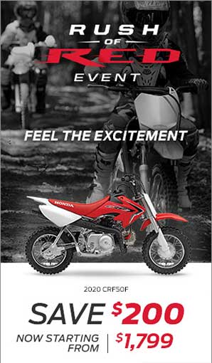 Save on the 2020 CRF50F