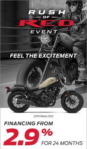 Great Financing Rates on Motorcycles at Kanata Honda
