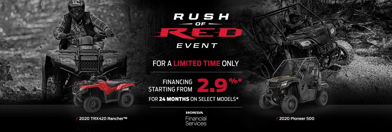 Rush of Red ATV + SxS Event at Kanata Honda