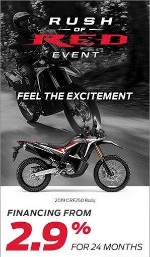 Save on CRF 250 Rally at Kanata Honda
