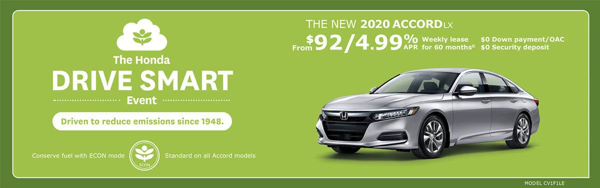 2020 Accord from $92 Weekly