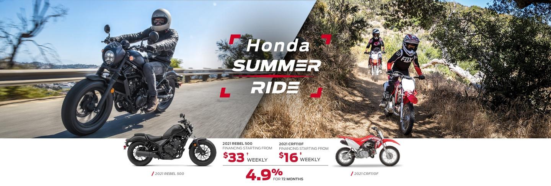 Save during the Honda Summer Ride Event at Kanata Honda