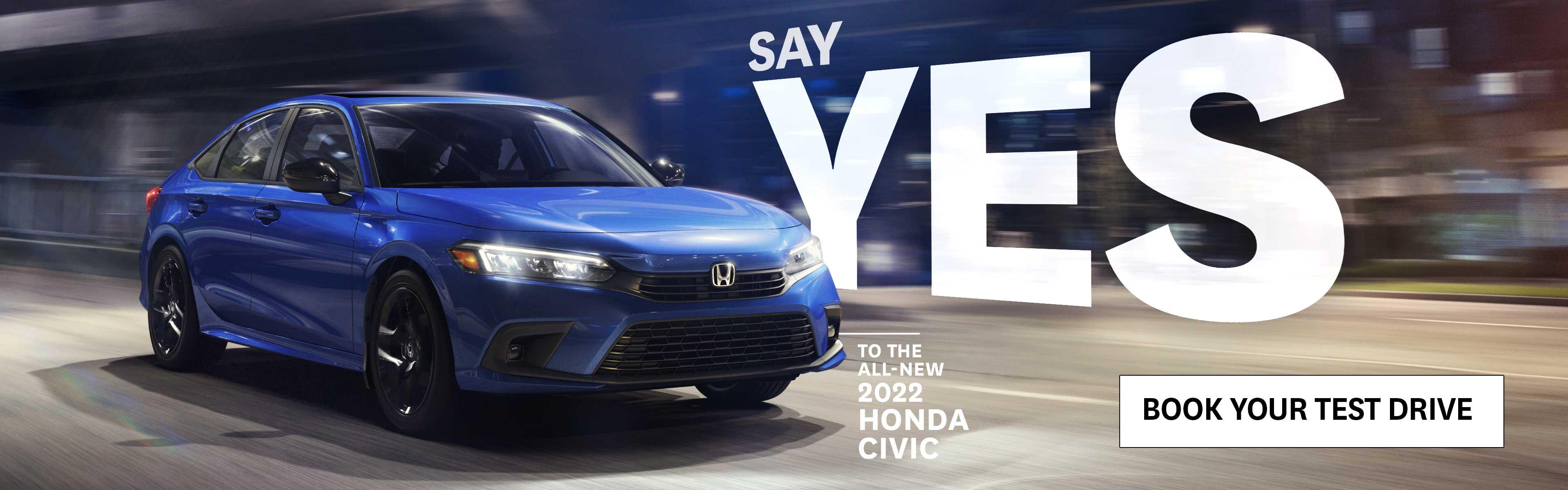 The 2022 Civic at Kanata Honda