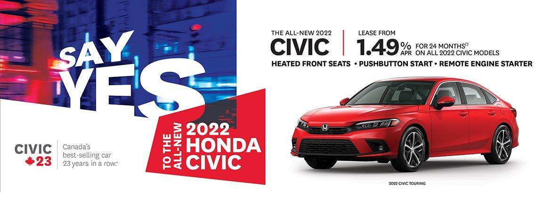 Test the new 2022 Honda Civic at Kanata Honda